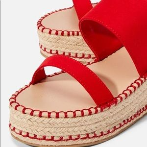 NWOT Just Fab Espadrille Wedge
